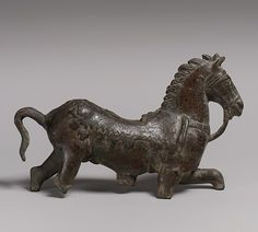 Bronze statuette of a horse, ca. 2nd century A.D. Roman. The Metropolitan Museum of Art, New York. Gift of Mr. and Mrs. Martin Gruss, 2000 (2000.523) #horses
