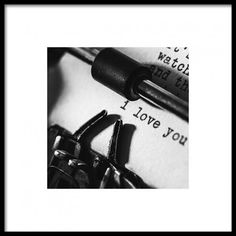I love you typewriter Poster in the group Prints / Black & white at Desenio AB Music Poster, Jazz Poster, Poster Store, Prada Marfa, Roald Dahl, Retro Poster, Vintage Posters, Vintage Art, Coco Chanel