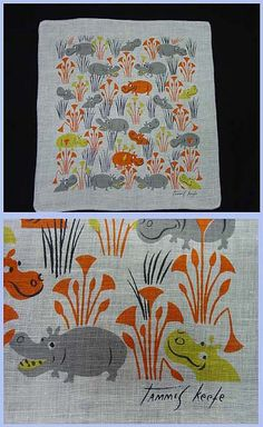 Tammis Keefe - Hippos handkerchief