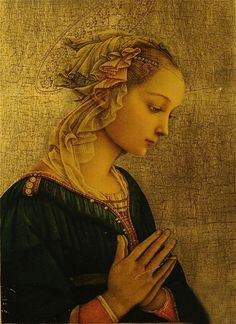Madonna, Fra Filippo Lippi ~ Italian Early Renaissance painter ~ (1406-1469).: