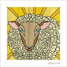 Sheep - created using the Colorfy App