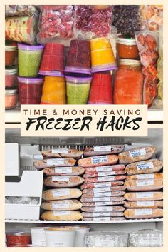 Time & Money Saving Freezer Hacks is part of Freezer meals - Freezer Hacks, Make Ahead Freezer Meals, Freezer Cooking, Freezer Soups, Meal Prep Freezer, Crockpot Freezer Meals, Deep Freezer Organization, Organize Freezer, Individual Freezer Meals