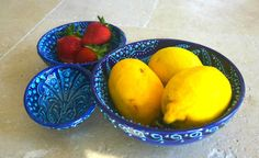 Set of 3 Textured Blue Bowls - Jewelery Bowls - Decorative Bowls -  Decor and Housewares - Candy Dish - Nut Bowl - Turkish Ceramics