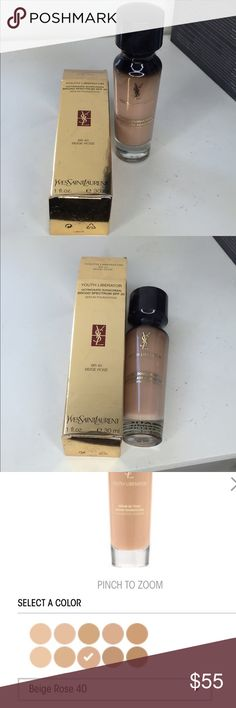 YSL Foundation (youth liberator) NWT  swatched for color but never fully used.  Normally $70 in store and online  MAKE ME AN OFFER  :) Yves Saint Laurent Makeup Foundation
