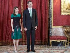 King Felipe and Queen Letizia of Spain received Costa Rican President Luis Guillermo Solís and Ms. Mercedes Peñas Domingo for an official lunch at the Royal Palace on May 08, 2017 in Madrid.