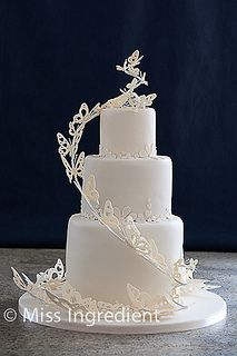 Butterfly Wedding Cake by Miss Ingredient, via Flickr