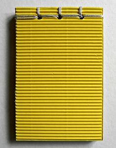Block notes con copertina in carta Havana gialla e rilegatura giapponese