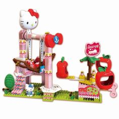 Hello Kitty series The sky pirate girl puzzle Lego assembling building block toy