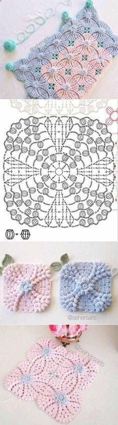 Transcendent Crochet a Solid Granny Square Ideas. Inconceivable Crochet a Solid Granny Square Ideas. Crochet Diagram, Crochet Chart, Crochet Motif, Crochet Doilies, Crochet Cushions, Crochet Tablecloth, Crochet Pillow, Crochet Flower Patterns, Crochet Stitches Patterns
