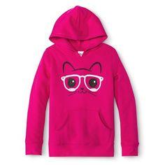 Girls' Pullover Hoodie - Pink. Miranda size s