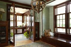 craftsman  by Meriwether Inc; adore the lighting fixture
