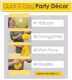 Quick and Easy Party Decoration Ideas