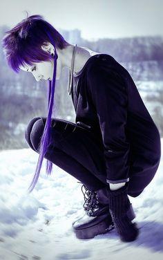 awesome purple hair