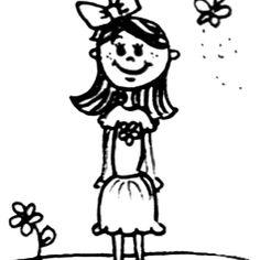 Girl Doodle Drawing by Nalinne Jones
