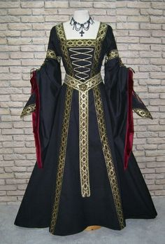 details zu mittelalterkleid mittelalter kleid gewand hochzeit larp robe gothic elben hdr ebay. Black Bedroom Furniture Sets. Home Design Ideas