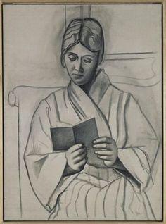"""Femma lisant (Woman Reading) (Olga)"", 1920 / Pablo Picasso (1881-1973)"