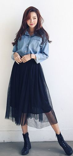 Korean Fashion – How to Dress up Korean Style – Designer Fashion Tips Korean Fashion Trends, Korea Fashion, Asian Fashion, Trendy Fashion, Fashion Beauty, Girl Fashion, Fashion Looks, Fashion Tips, Fashion Design