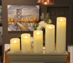 The welcoming glow of candlelight ✨  www.homsquare.ie    #candles #LED #light #glow