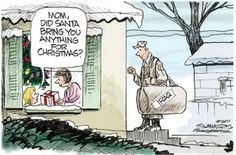 Merry Christmas Everyone! Best Christmas Presents, Merry Christmas Everyone, Political Cartoons, Funny Cartoons, Christmas Humor, Christmas Fun, Xmas, Christmas Cartoons, Christmas Things