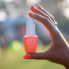 "Shine bright all summer with shades from the OPI Neons collection! Try ""Orange You a Rockstar?"" in GelColor Opi Colors, Nail Envy, Gel Color, My Nails, Perfume Bottles, Orange, Mad, Shades, Bright"