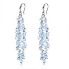 de0f852a3 Eliza Crystal Cluster Drop Earrings Bridal Earrings, Unique Earrings, Drop  Earrings, Crystal Cluster