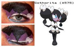 Gothorita inspired make up Pokemon Halloween, Makeup Inspo, Halloween Face Makeup, Make Up, Fandoms, Inspired, Disney, Inspiration, Maquillaje