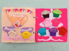 Soft Quiet Busy Book  - Little Miss Cupcake on Etsy, $91.42 AUD