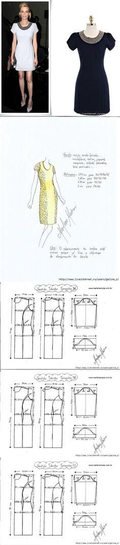 Труба платье Mango.Выкройки размер 38-56....<3 Deniz <3