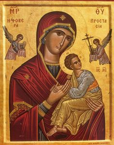 Our Lady of Perpetual Help Religious Icons, Religious Art, Religious Paintings, Jesus Is Risen, Religion Catolica, Russian Icons, Mary And Jesus, Byzantine Icons, Holy Mary