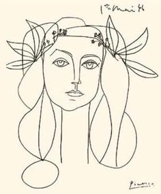 For inspiration,  the artist  in you : D  Some of the many  Picasso  paintings  on the theme of woman - linearly ....