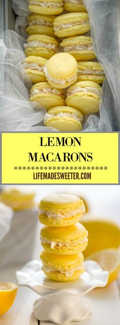 Lemon Macarons make the perfect gluten free sweet treat. They are light, tangy and bursting with sunshine in every bite!