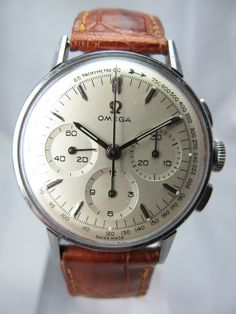 1950s Omega Chronograph using the .321 Cal movement.... Perfection! -K- More 1950S Omega, Vintage Watches, Vintage MenS Watches, Wrist Watches, Vintage Omega, Omega Vintage, 1950S Chronograph, Omega Watches, Men Watches Vintage Omega 1950s Chronograph style inspiration || #menswear #mensfashion #mensstyle #style #sprezzatura #sprezza #mentrend #menwithstyle #gentlemen #bespoke #mnswr #sartorial #mens #watch #watches #wristwear 1950s Omega Chronograph 1950s Chronograph Would love an old…