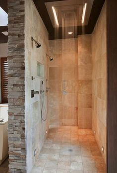 Custom Double Shower ☆ Stone☆Rainfall water design.
