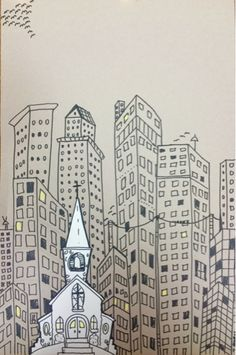 The Lost Sock : Marz Jr. Cityscape
