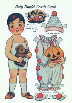 A Nostalgic Halloween: Halloween Paper Doll Clown