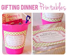 The Busy Budgeting Mama: Gifting Dinner- Pretty Printables & Packaging