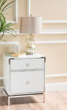 White Bedside Table With Drawers Dresser As Nightstand, Bedside, Beautiful Bedrooms For Couples, Framing Materials, Drawers, Interiors, Glass, Table, Furniture