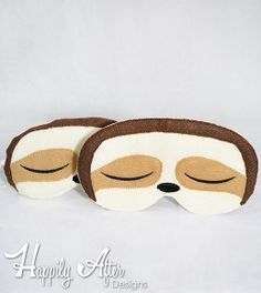 Sloth Sleep Mask ITH Embroidery Design from Happily After Designs