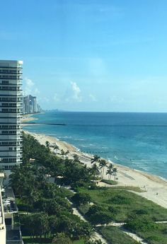 View from the rooftop of the Grand Beach Hotel, Surfside - near Miami Beach. Huge family-friendly suites in the west property, with access to all amenities.