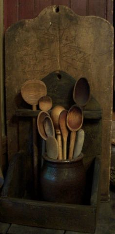 Early wood spoons.