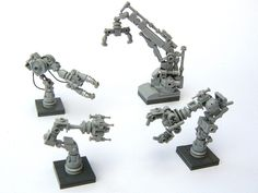 https://flic.kr/p/8ks6Vv | Robot Arms | I could happily make variant arms for quite a while before getting bored.