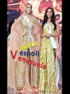 Miss Venezuela, Valeria Vespoli, y Miss India Top 2,  La Noche Final del Concurso  Miss Supranational 2016. by Antoni Azocar..