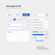 UltraLight UI Kit Free PSD