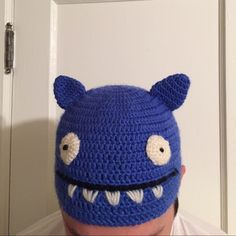 Uglydoll Blue Ugly Hat Urban Outfitters NEW Uglydoll Uglyhat in cobalt blue with white and black detailing on the face. Cute ears. Fits most head sizes. Quirky, kitschy and adorable! 70% acrylic, 30% wool. New without tags. No trades, no PP. Urban Outfitters Accessories Hats