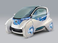 """""""Micro Commuter Concept"""" Car by Honda - Set to debut at the 2011 Tokyo Motor Show, the Concept Car is an ultra compact futuristic electric city commuter."""