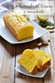 (has the option of topping perfumed syrup with rosemary and lemon, sprinkling confectionary sugar with lemon zest) potato seed lemon chopped almonds sachet of baking powder. Lemon Recipes, Sweet Recipes, Tea Loaf, Italian Pastries, Italian Cake, Plum Cake, Almond Cakes, Vegan Baking, Italian Recipes