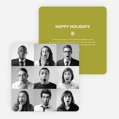 Brady Bunch Squares Holiday Cards for Small Business from Paper Culture