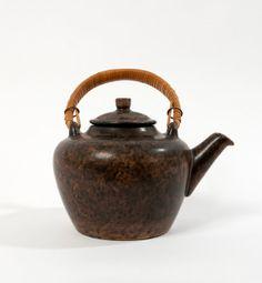 vintage coffee pot tea brown mid century danish by northvintage, kr700.00