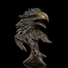 Chinese bronze sculpture falcon figurine EAGLE Statue for home decor wildlife sculpture fengshui business gift