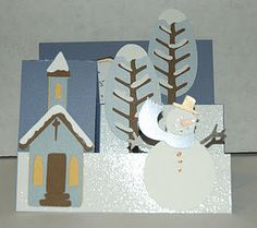 Snowman Stair Step Card